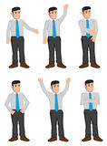 Full Body Businessmen Color Icons Vector Illustration Royalty Free Stock Photography