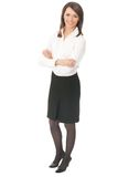 Full body businesswoman royalty free stock photo
