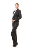 Full-body businesswoman, isolated Royalty Free Stock Photography