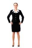 Full-body businesswoman on white Stock Photos