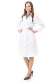Full body female doctor. Full body portrait of female doctor or nurse, isolated Royalty Free Stock Images