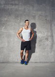 Full body fitness portrait of muscular man Royalty Free Stock Photos
