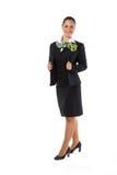 Full body flight attendant standing Stock Photos