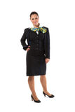 Full body flight attendant standing Stock Photography