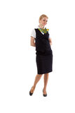 Full body flight attendant standing Royalty Free Stock Images