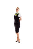 Full body flight attendant standing Royalty Free Stock Image