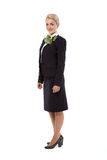 Full body flight attendant standing Royalty Free Stock Photography