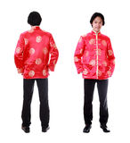 Full body front and back view Asian man with Chinese traditional Stock Image