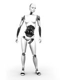 Robot woman standing nr 2. Royalty Free Stock Photography