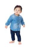 Full body of little asian girl Stock Photos
