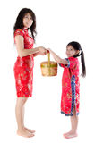 Full body oriental family Stock Image