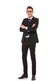 Full body picture of a business man Royalty Free Stock Image