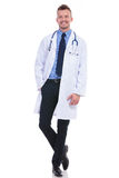 Full body picture of a young doctor Stock Image