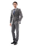 Full body portrait of business man Stock Photography