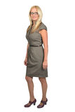 Full body portrait of business woman. Isolated Stock Photo