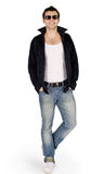 Full body portrait of a casual young man Stock Image