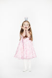 Full body portrait of girl child with blond hair Royalty Free Stock Photography