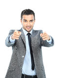 Full body portrait of happy smiling business Royalty Free Stock Images