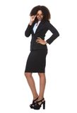 Full body portrait of a serious business woman Stock Photo