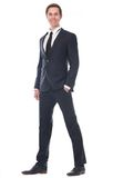 Full body portrait of a smart businessman smiling Stock Image