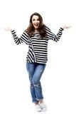 Full body portrait of surprising woman Stock Image