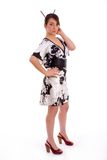 Full body pose of Japanese woman Royalty Free Stock Photos