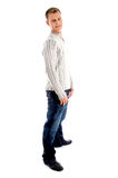 Full body pose of male looking at camera Stock Photo