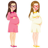 Full Body Pregnant Woman Stock Images