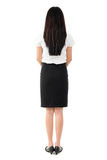 Full body rear view of beautiful Asian girl Royalty Free Stock Photos