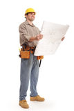 Full body shot of architect builder royalty free stock photography