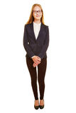 Full body shot of young business woman Royalty Free Stock Photography