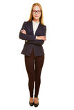 Full body shot of young businesswoman Royalty Free Stock Images