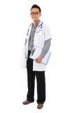 Full body southeast Asian medical doctor. stock photos