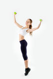 Full Body Studio Portrait Of A Fit Healthy And Active Young Stock Photography