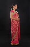 Full body traditional young Indian girl in sari Royalty Free Stock Photography