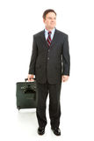 Full Body View of Business Traveler Royalty Free Stock Photo