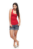 Full body woman standing relaxed Stock Photos