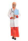 Full body young Muslim female doctor Stock Photos