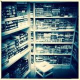 Full Bookshelves  Royalty Free Stock Images