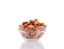 Full bowl with almonds. Stock Photography