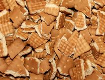 Full bowl of broken biscuits Royalty Free Stock Image