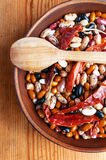 Full bowl of different haricot beans Royalty Free Stock Images