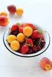 Full bowl of fresh fruits Stock Photo