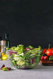 Full bowl of fresh green salad Stock Photography