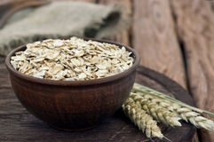 Full a bowl of oatmeal Stock Images