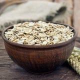 Full a bowl of oatmeal Stock Photos