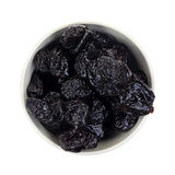 Prunes Above View Stock Photography