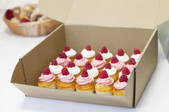 Full box of cakes Royalty Free Stock Photo