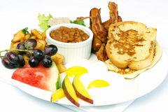 Full breakfast with eggs bacon beans Stock Photos