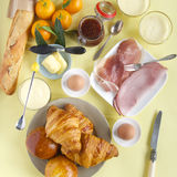 Full breakfast table Royalty Free Stock Photo